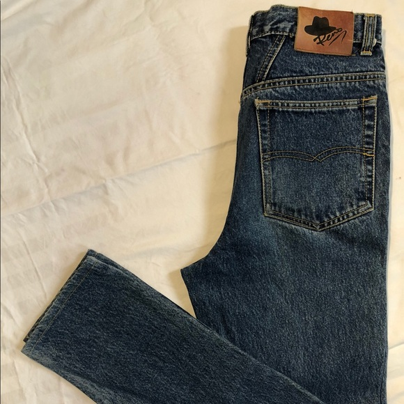 vintage cowgirl chic mom jeans
